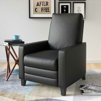 Annarie Manual Recliner Upholstery: Black