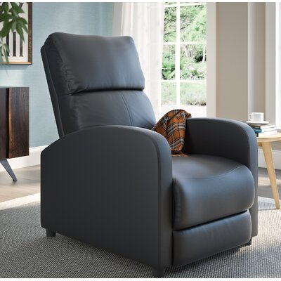 Anneri Bonded Leather Recliner Upholstery: Black