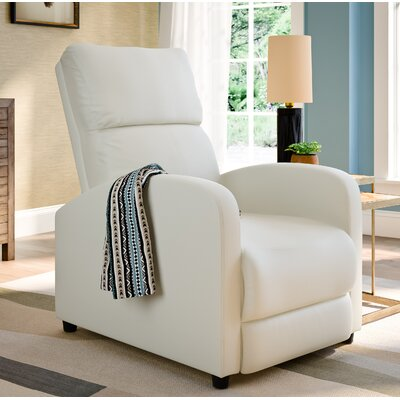 Anneri Manual Recliner Upholstery: White