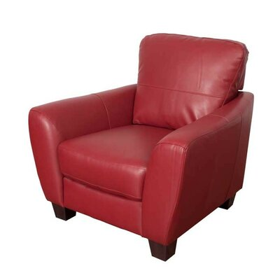 Lacy Armchair Color: Red
