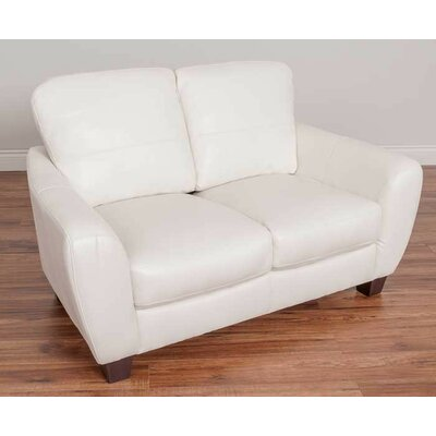 Lacy Loveseat Upholstery: White