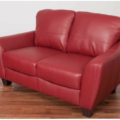 Lacy Loveseat Upholstery: Red