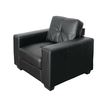 Kaye Club Chair Upholstery: Black