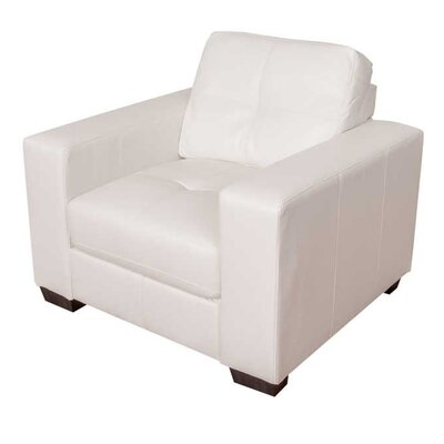 Kaye Club Chair Color: White