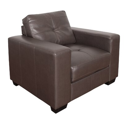 Kaye Club Chair Upholstery: Brown