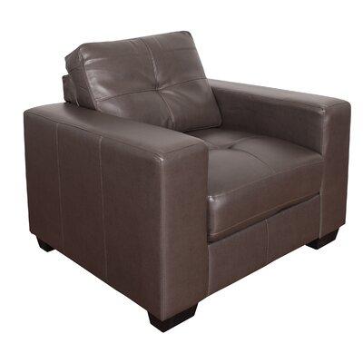 Kaye Club Chair Color: Brown