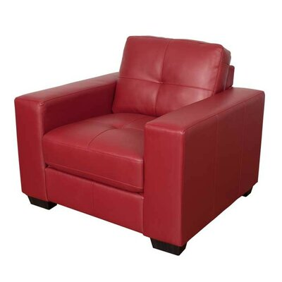 Kaye Club Chair Upholstery: Red