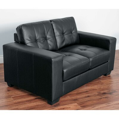 Kaye Loveseat Upholstery: Black