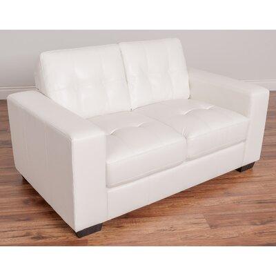 Kaye Loveseat Upholstery: White