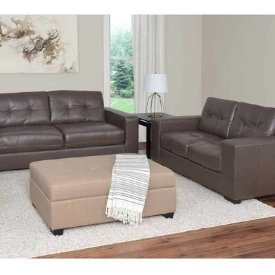 Kaye 2 Piece Sofa Set Upholstery: Brown