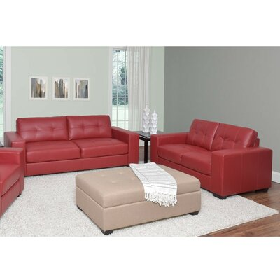 Kaye 2 Piece Sofa Set Upholstery: Red