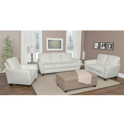 Lacy 3 Piece Living Room Set Upholstery: White