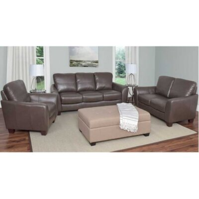 Lacy 3 Piece Sofa Set Upholstery: Brown