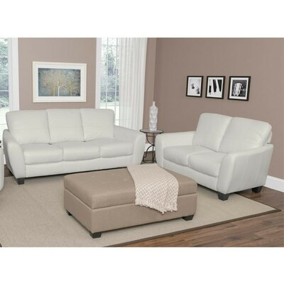Lacy 2 Piece Sofa Set Upholstery: White