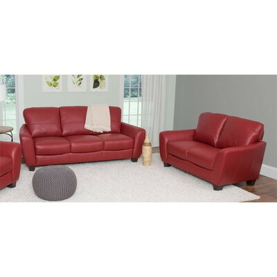 Lacy 2 Piece Living Room Set Upholstery: Red
