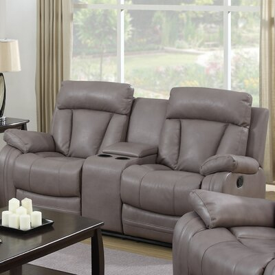 Leanne Leather Reclining Sofa