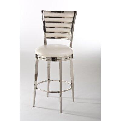 Lelia 26 Swivel Bar Stool Upholstery: Ivory