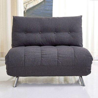 Leola Convertible Chair Upholstery: Gray