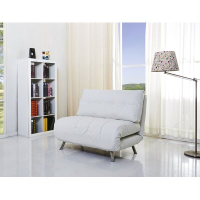 Leola Convertible Chair Color: White