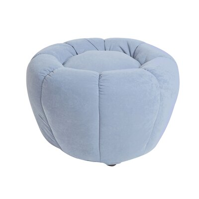 Lara Pumpkin Ottoman Color: Sky
