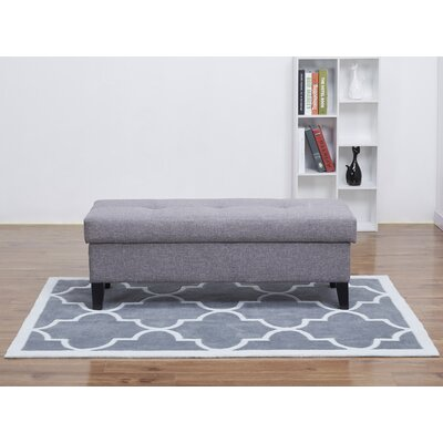 Latasha Storage Ottoman Color: Ash