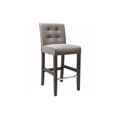 Celia 31 inch Bar Stool Upholstery: Grey Tweed Fabric