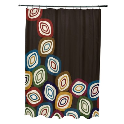 Marc Falling Leaves Geometric Print Shower Curtain Color: Brown