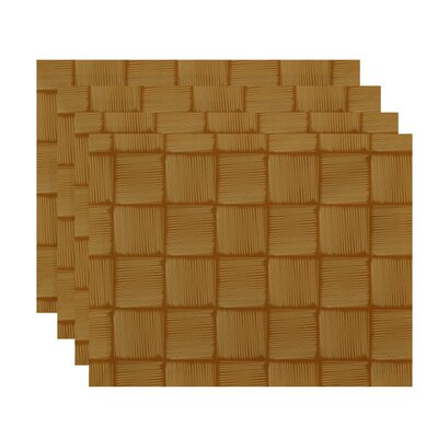 Marci Basketweave Geometric Print Placemat