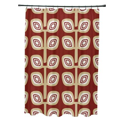Marcos Leaf Tree Geometric Print Shower Curtain Color: Orange