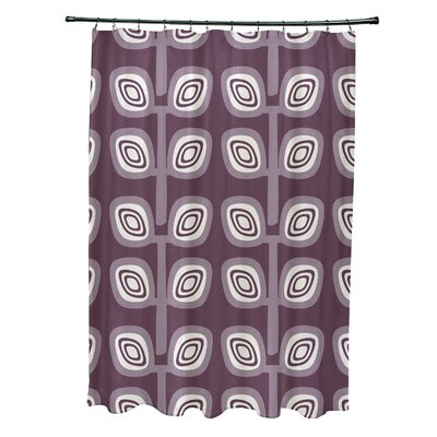 Marcos Leaf Tree Geometric Print Shower Curtain