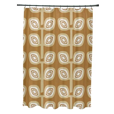 Marcos Leaf Tree Geometric Print Shower Curtain Color: Yellow