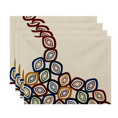 Margret Falling Leaves Geometric Print Placemat