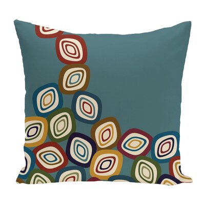 Marietta Falling Leaves Geometric Print Throw Pillow Color: Teal
