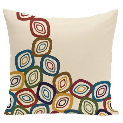 Marietta Falling Leaves Geometric Print Throw Pillow Color: Cream/Multi