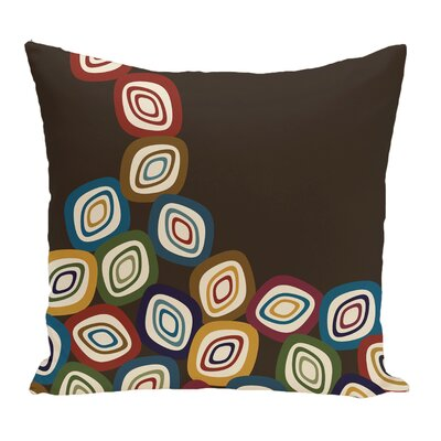 Marietta Falling Leaves Geometric Print Throw Pillow Color: Brown