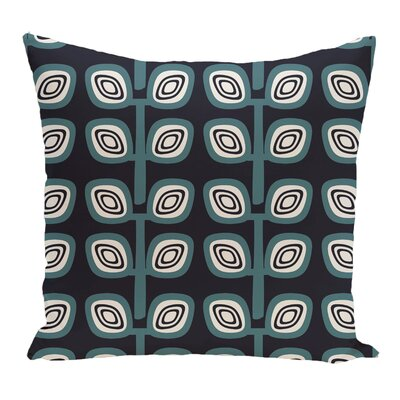 Melba Leaf Tree Geometric Print Throw Pillow Color: Navy