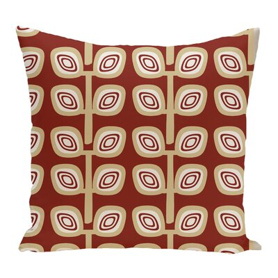 Melba Leaf Tree Geometric Print Throw Pillow Color: Orange