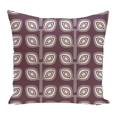 Melba Leaf Tree Geometric Print Throw Pillow Color: Purple