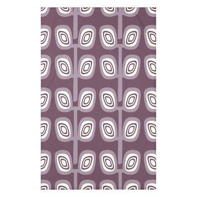 Melva Leaf Tree Geometric Print Throw Blanket Size: 50 H x 60 W x 0.5 D, Color: Purple