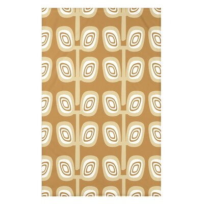 Melva Leaf Tree Geometric Print Throw Blanket Size: 50 H x 60 W x 0.5 D, Color: Yellow