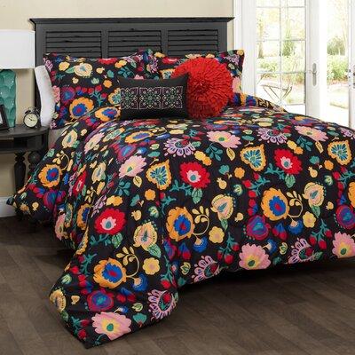 Lola 5 Piece Comforter Set Size: King