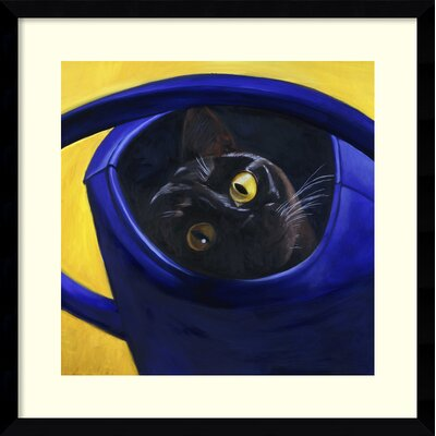 Cat in the Watering Can, 1996 Framed Photographic Print