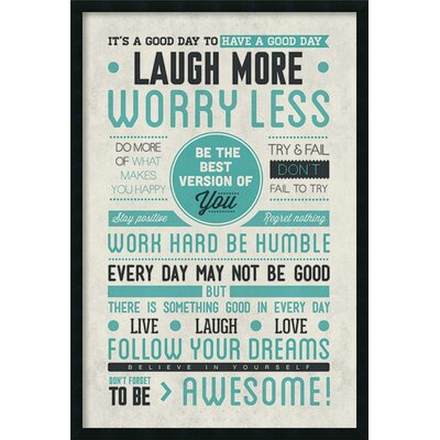 Be Awesome Framed Textual Art