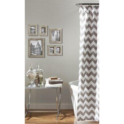Dewey Shower Curtain Color: Grey