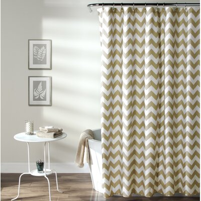 Dewey Shower Curtain Color: Taupe