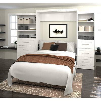 Rosetta Queen Murphy Bed Upholstery: White