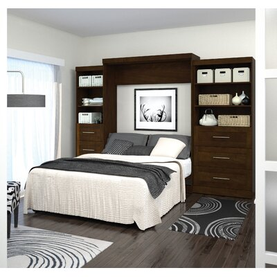 Rosetta Queen Murphy Bed Color: Chocolate