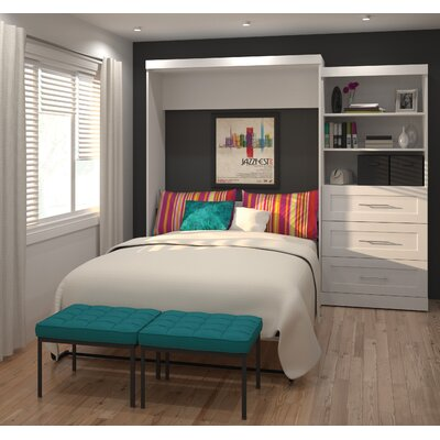 Roslyn Queen Murphy Bed Color: White