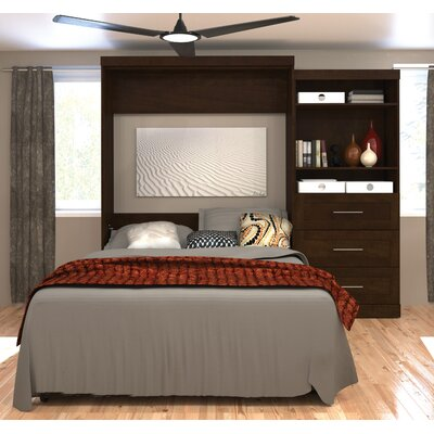Roslyn Queen Murphy Bed Color: Chocolate