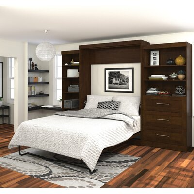 Rudolph Queen Murphy Bed Upholstery: Chocolate